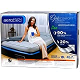 "AeroBed: Queen Size 18"" Double Height Air Matress with Headboard Bed - OptiComfort Easy AC Pump & Hand Control"