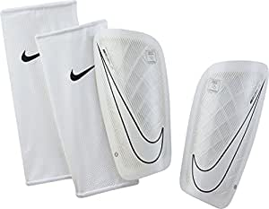 Nike Mercurial Lite Espinilleras, Unisex Adulto, Blanco, Blanco (Black/White), XS