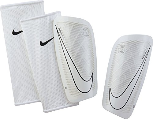 Nike Mercurial Lite Soccer Shin Guards (X-Large) White, Black