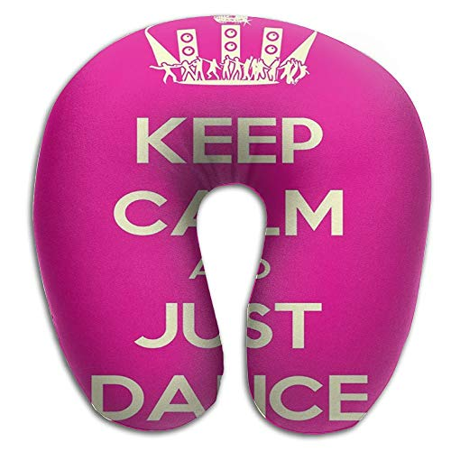AXZC5pm Memory Foam Neck Pillow,Keep Calm and Just Dance Stage Disco Ball Travel Pillow by AXZC5pm