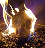 Gray Ceramic Fireplace Skull - Designed for