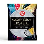 Kit's Inventive - Hobby & Model ' Gray ' Smart Paint Palette With Cover - Nonstick & Unbreakable Synthetic Rubber [ 8 well ] Easy To Clean, Safe & More Durable by Kit's Inventive