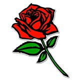 Bargain Max Decals - Red Rose - Sticker Decal Notebook Car Laptop 5' x 3' (Color)