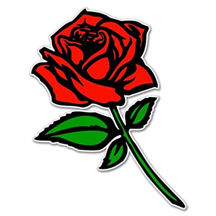 Red rose car bumper sticker window decal 5