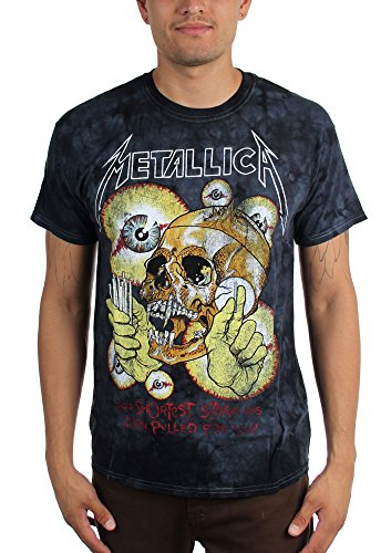 Metallica Official Mens Shortest Straw Tie-Dye T-Shirt - S to XXL