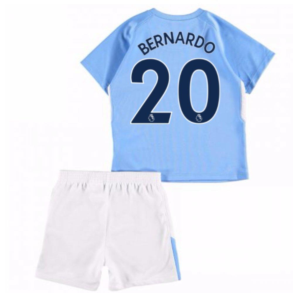 UKSoccershop 2017-18 Man City Home Baby Kit (Bernardo Silva 20)