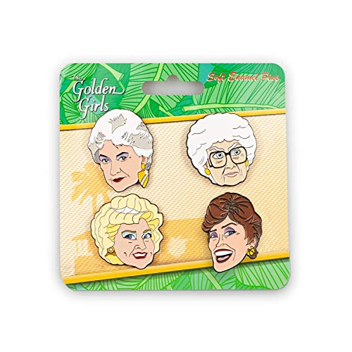 Golden Girls Collector Enamel Pin Set | 4 Pieces | Blanche, Dorothy, Rose and Sophia
