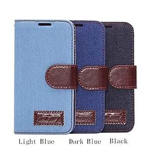 Teléfono Móvil Samsung - Carcasas de Cuerpo Completo - Diseño Especial - para Samsung Galaxy Mini S5 ( Negro/Azul oscuro/Azul claro , Cuero PU ) , Dark Blue