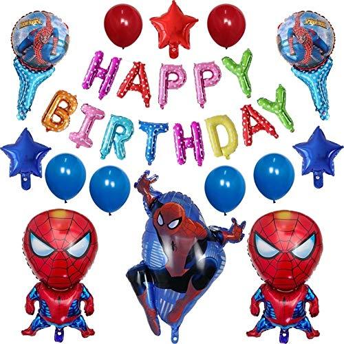 1 Satz superhero Kinder Geburtstagsparty Dekorationen Aluminiumfolie Ballon Baby-Dusche Karikatur Spielzeug Geschenk (Color : Olive) Plum