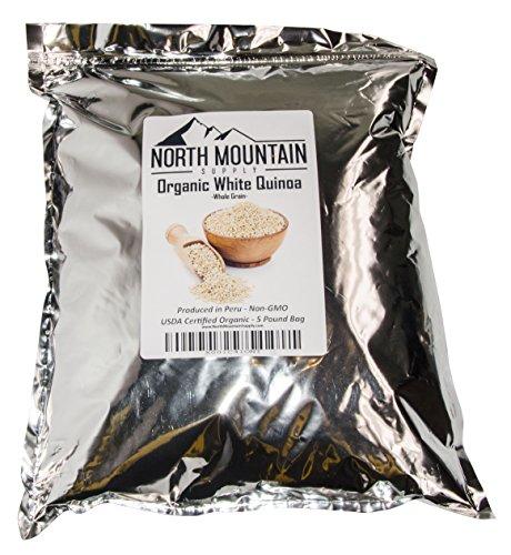 North Mountain Supply Organic White Quinoa Whole Grain - Produced in Peru (5 Pounds)