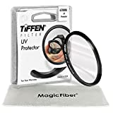 TIFFEN 67MM UV Protection Filter for CANON REBEL T5i T4i T3i T3 T2i, EOS 700D 650D 600D 550D 70D 60D 7D 6D with 18-135mm EF-S IS STM Lens + MagicFiber Microfiber Lens Cleaning Cloth
