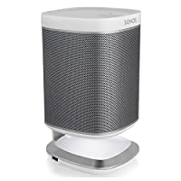 Sonos PLAY:1 All-In-One Wireless Music Streaming Speaker with Flexson Illuminated Charging Stand (White)