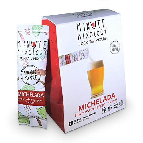 tail Mixers - Low Calorie, All Natural Ingredients - Drink Mix for Liquor/Spirits and Non-Alcoholic Beverages (Michelada, 16 Packets) (Mai Tai Cocktail Ingredients)