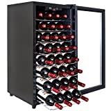 32 BTL Electric Wine Cooler Cellar Chiller Single Zone Blk AZ-ea45ec-75