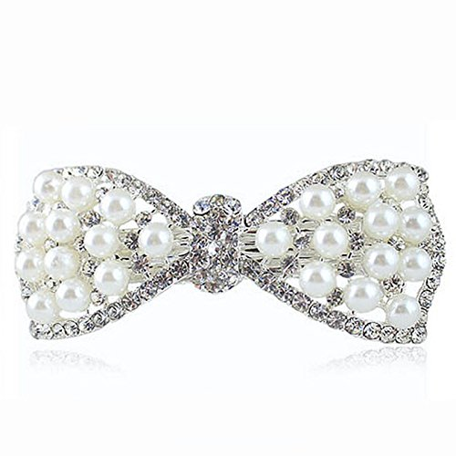 1 Pcs Fashion Women Girls Crystal Rhinestone Bow Hair Clip Beauty Hairpin Barrette Head Ornaments Hair (Sexy Updo)