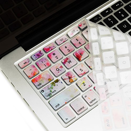 """TOP CASE - 2 in 1 Signature Bundle Graphics Rubberized Hard Case + Keyboard Cover Compatible Older Generation MacBook Air 13"""" (A1369 and A1466) (Release 2010-2017) - Cherry Blossom"""