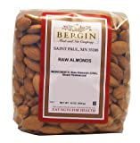 Bergin Nut Company Almonds, Raw Almonds, 16-Ounce Bags (Pack of 2)