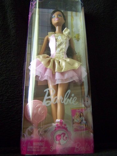 Barbie As Princess Anneliese from the Prince and the Pauper with Dark Skin and Hair in Ballerina Costume - Barbie Ballerina Costumes