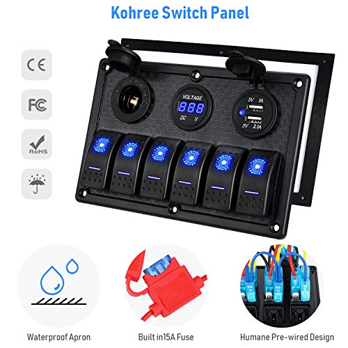 Switches & Relays Frentaly Blue Laser Etched Waterproof ON