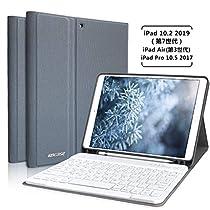 iPad 10.2 ケース キーボード 第7世代最新版 2019秋発売対応 iPad Air(第3世代) 2017 Pro 10.5 通用 A...