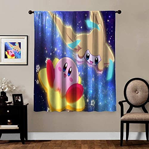 Anime Blackout Curtains,Jirachi Kirby