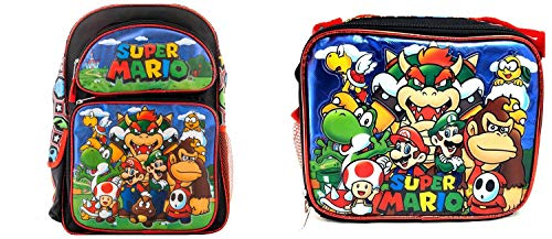 Super Mario Brothers Backpack Book Bag with