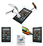 Acm Tempered Glass Screenguard for Kindle All New Fire Hd 8 Screen Guard Scratch Protector