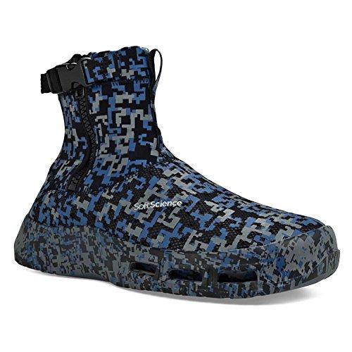 (SoftScience Men's The Fin Boots Blue Neoprene, Mesh, 8 M US)