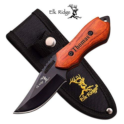 Forevergifts Free Engraving - Quality Fixed Blade Knife 6'' Overall by Forevergifts