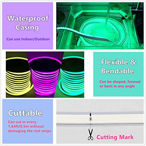 Vasten RGB NEON LED Light, DC 24V Flexible RGB LED Neon
