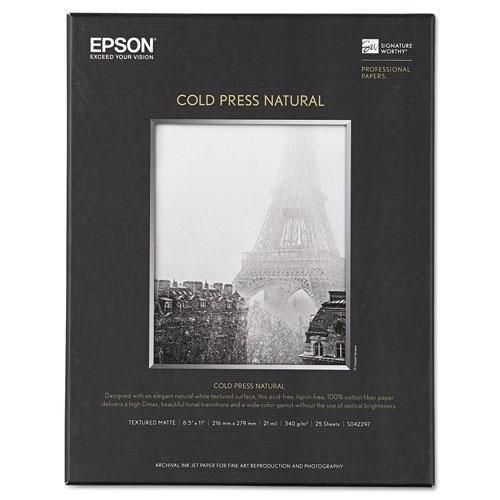 - * Cold Press Natural Fine Art Paper, 8-1/2 x 11, 25 Sheets