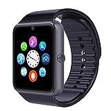 Padgene GSM Smart Watch NFC Bluetooth Wrist Watches Phone Mate,Black SIM TF Camera