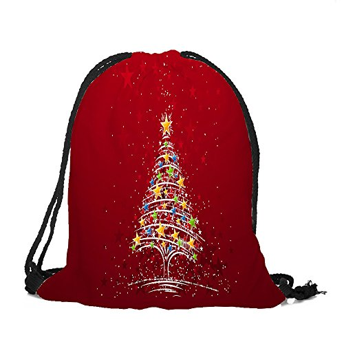 ✈ HYIRI Big Merry Christmas Candy Bag Satchel Rucksack Bundle Pocket Storage Bag