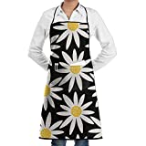 Polyester Kitchen Apron Cooking Baking Garden Chef Apron Bib With Pocket For Women Flower