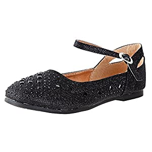 Little Angel – Britt Dress Flats for Girls | Adjustable Ankle Strap | Comfortable Flats | Holiday Shoe | Toddler | Infant