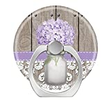 Pop Phone Ring Stand Holder 360°Rotation Reusable Ring Holder Finger Grip Universal socket Kickstand for All Cellphones Purple Hydrangea
