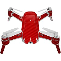Skin For Yuneec Breeze 4K Drone – Red Carbon Fiber | MightySkins Protective, Durable, and Unique Vinyl Decal wrap cover | Easy To Apply, Remove, and Change Styles | Made in the USA