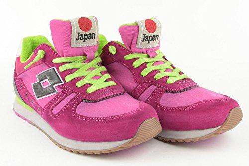 Mujer zapatillas de deporte LEGEND LOTTO bajo R7027 TOKYO SHIBUYA W Fuxia