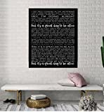Song Lyrics, Personalized Wedding Present, Anniversary Gift, First Dance Song, Wedding Song On Canvas, First Dance Song Lyrics, Custom canvas art