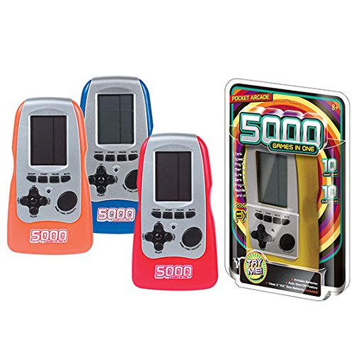 Electronic Pocket Game (Westminster Pocket Arcade 5000 Games In One, Random Color)