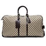 Gucci Luggage Beige Ebony Travel Brown Handbag Leather Bag Duffle New
