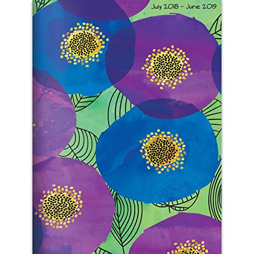 TF Publishing 19-4243A July 2018 - June 2019 Poppies Monthly Planner, 7.5 x 10.25