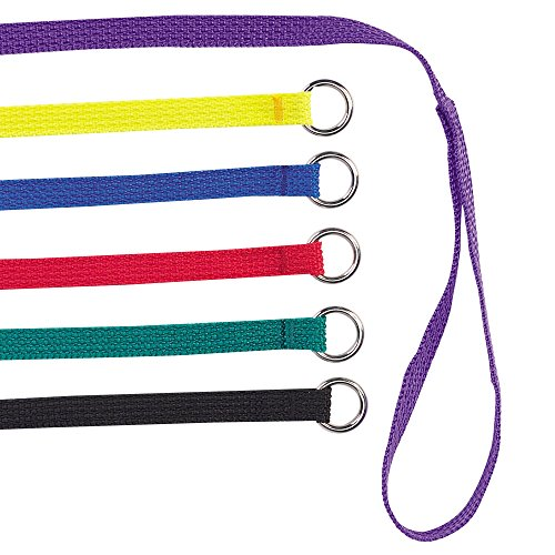 Guardian Gear 6-Feet Nylon Dog Kennel Lead, 6-Pack, Colors Vary (Kennel Leash)