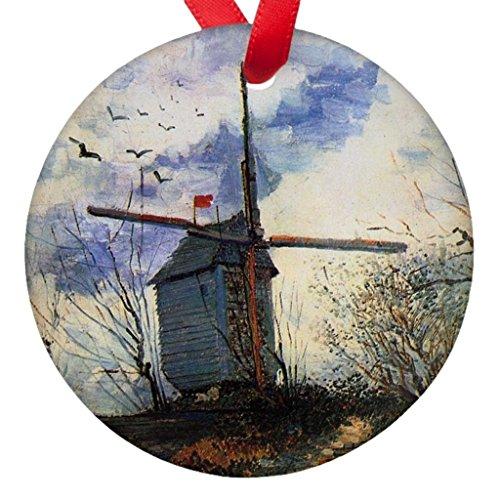 Vicent Van Gogh Windmill Porcelain Ornaments ()