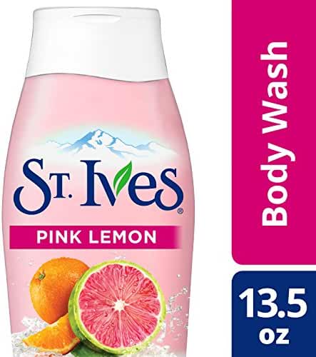 St. Ives Even & Bright Body Wash, Pink Lemon and Mandarin Orange 13.5 oz