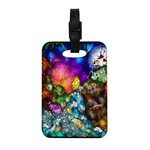 Kess InHouse Mandie Manzano Fairy Tale Alice in Wonderland Decorative Luggage Tag, 4 by 4-Inch