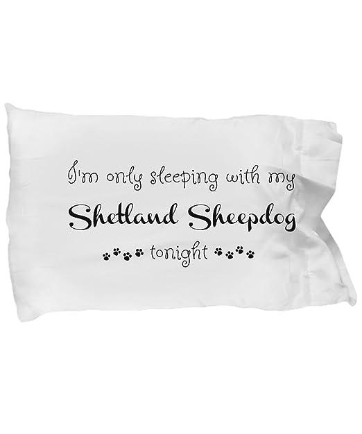 Funda de almohada de perro pastor de las Islas Shetland ...