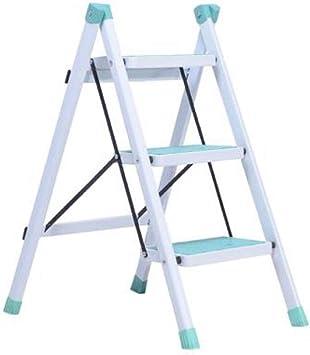 Escalera de tres escalones receptable, taburete plegable para cocina, baño, estudio, zapatero 42 x 68 x 81 cm, verde: Amazon.es: Bricolaje y herramientas
