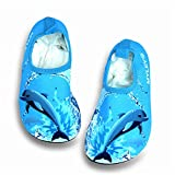 edv0d2v266 Kid Swim Water Shoes Quick Dry Toddler Barefoot Aqua Socks for Beach Pool Surfing Yoga Boys Girls (Blue 29/11.5 M US Little Kid)