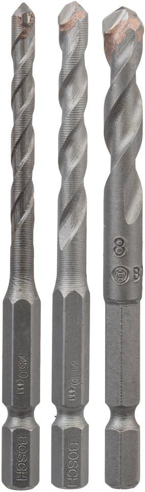 Bosch Professional 2608589528 Fliesenbohrer-Set Hex Ceramic EU 5-teilig grau